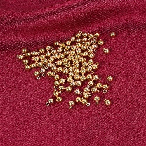 20 x pendentif boule 6mm x 4mm couleur doré