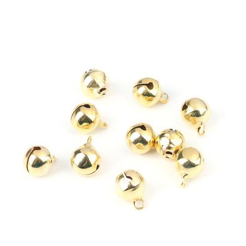 100 x pendentif grelot 13mm x 10mm couleur doré