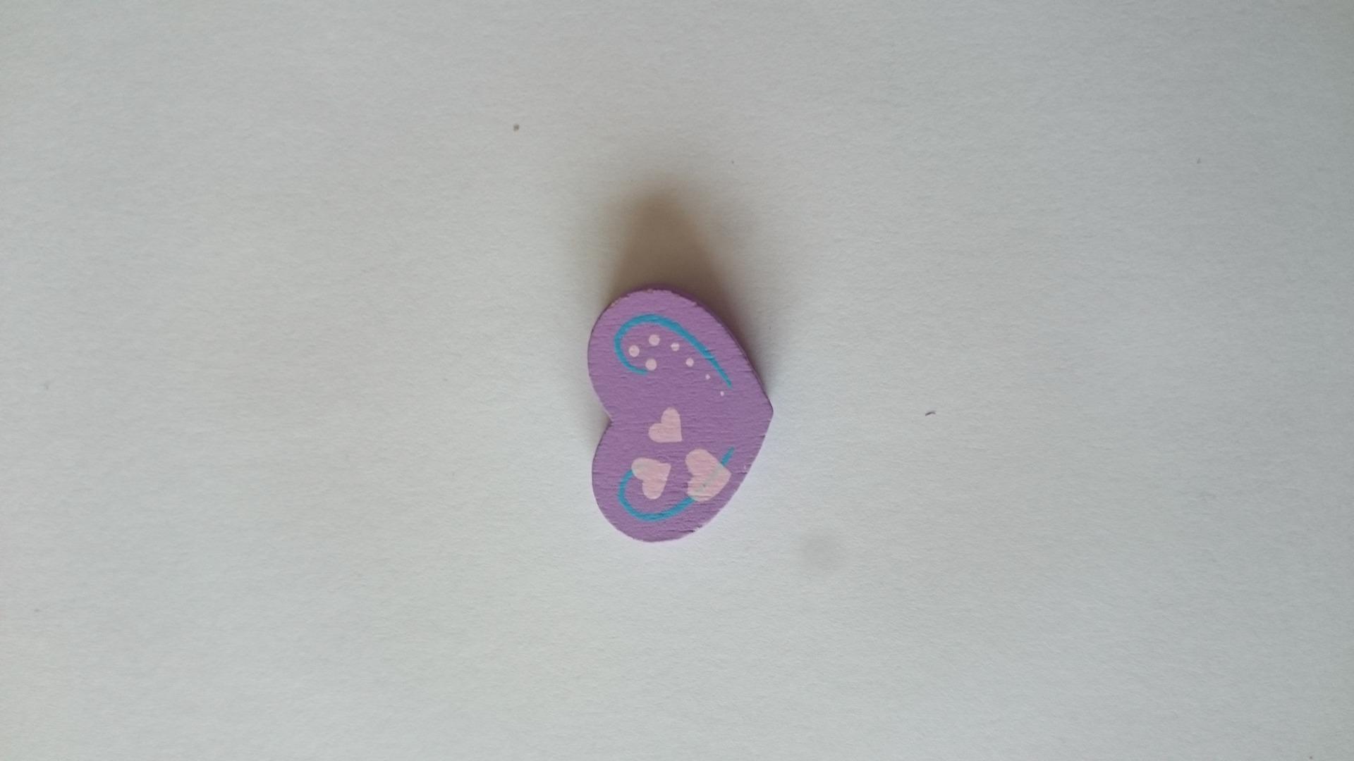 Lot de 6 perles coeurs violet