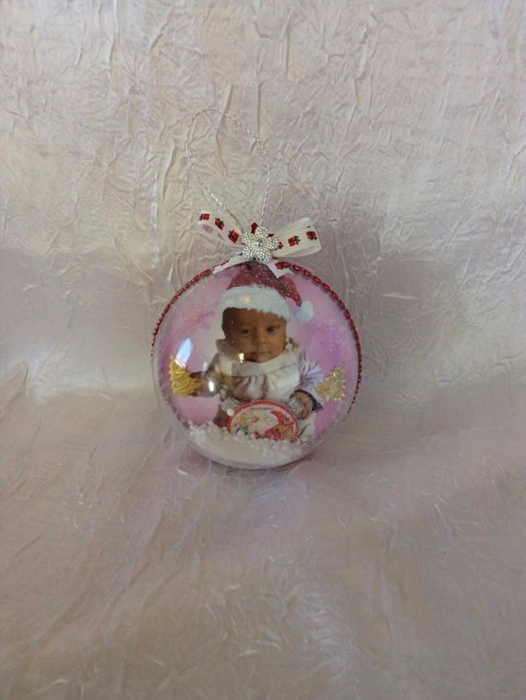 Personnaliser Une Boule De Noel Transparente boule de noël personnaliser avec photo de votre enfant