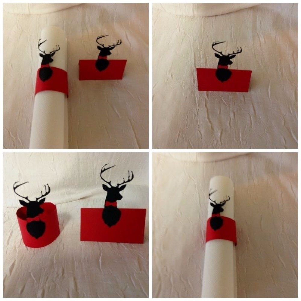 rond de serviette + marque place  decoration anniversaire thème nature-chasse