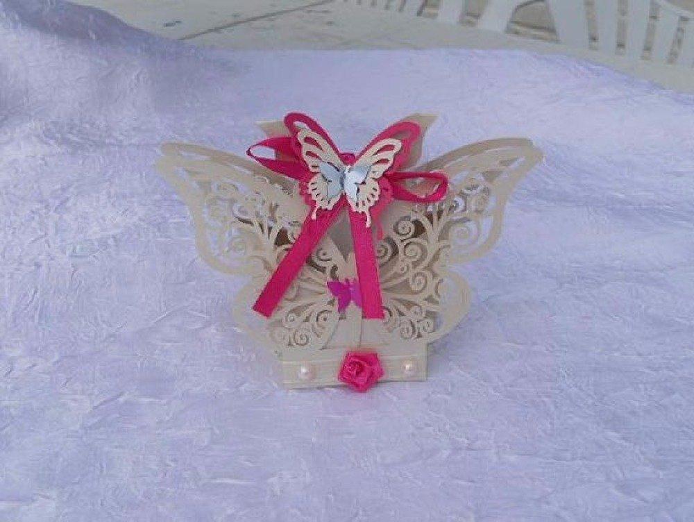 Boite a dragées Papillon