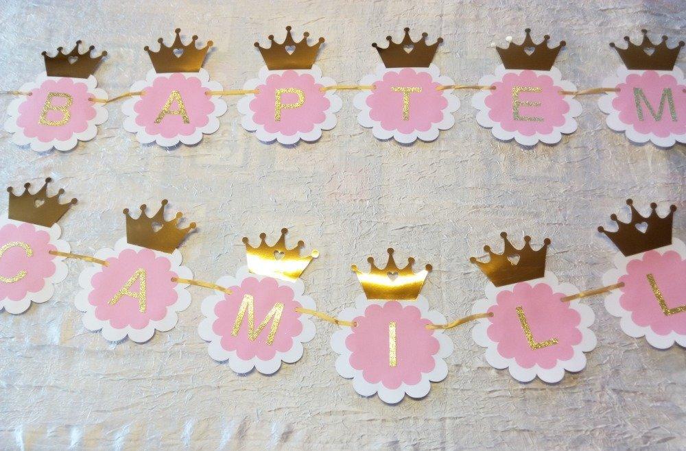Bannière thème princesse couronne