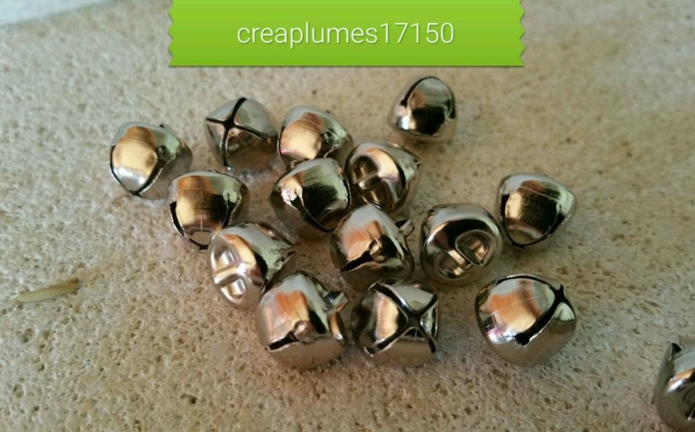 lot de 20 grelots clochettes platine breloques scrapbooking 10mm