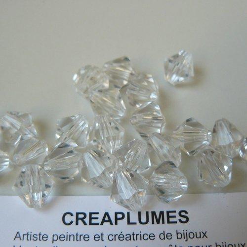 Lot de 5 grosse perles toupies 18mm trou 3mm jaune