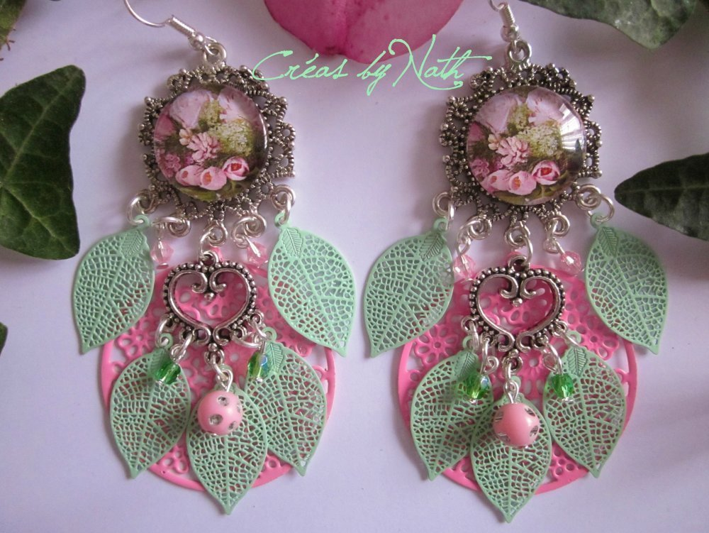 Boucles d'oreilles : Bouquet romantique