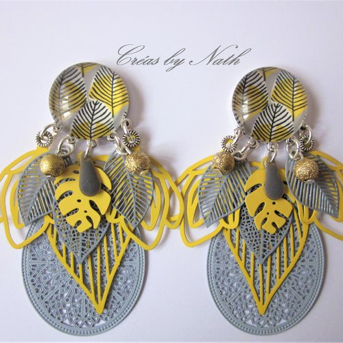 Boucles d'oreilles : fiby