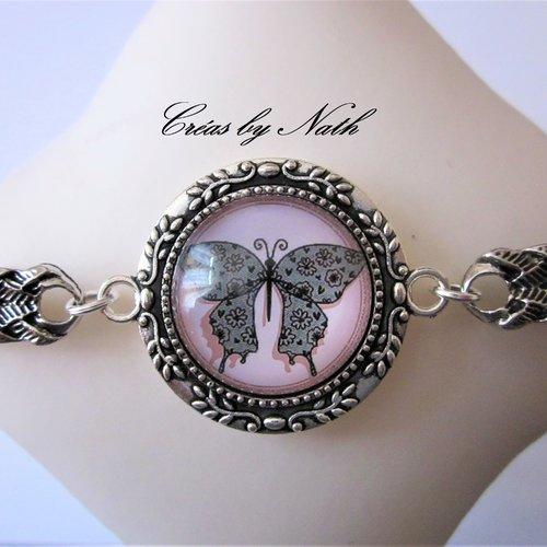 Bracelet papillon de dentelle