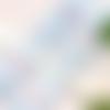 1m de ruban satin bleu  cygnes et coeurs 1.5 cm