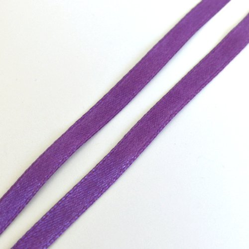 1m de ruban satin violet 0.8 cm