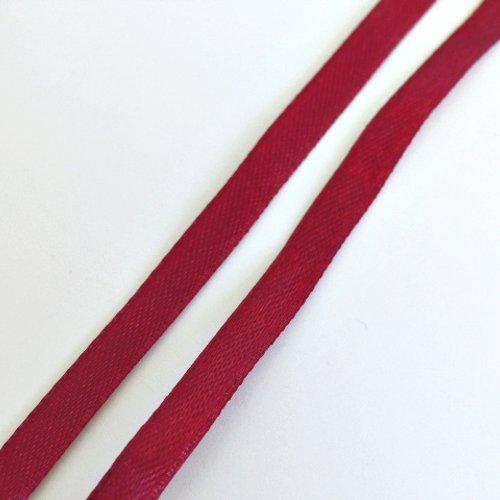 1m de ruban satin bordeau/rouge 0.8 cm