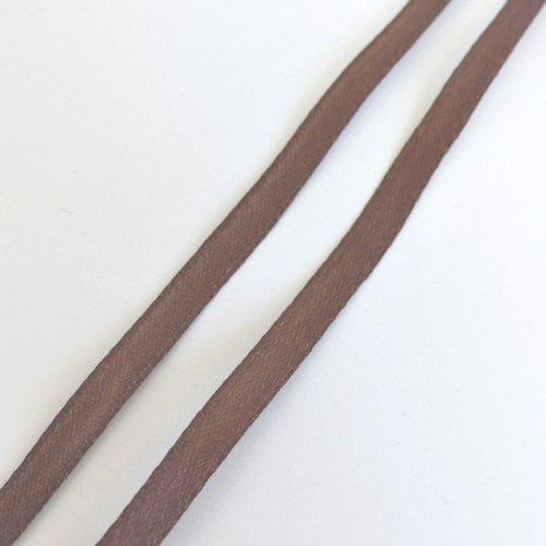 1m de ruban satin marron 0.8 cm