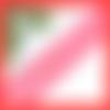 1m de ruban rouge étoilé 1cm