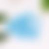 Lot de 15 perles en verre à facettes bleu