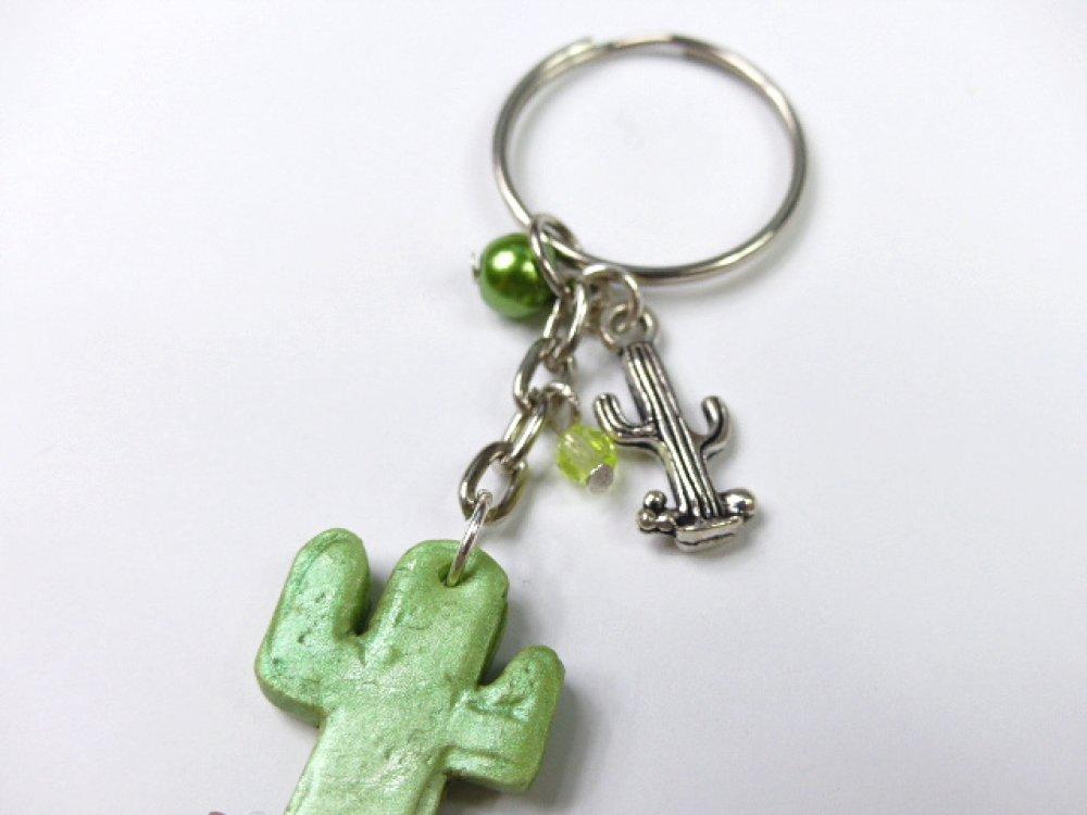 Porte clé Cactus irisé en 2D