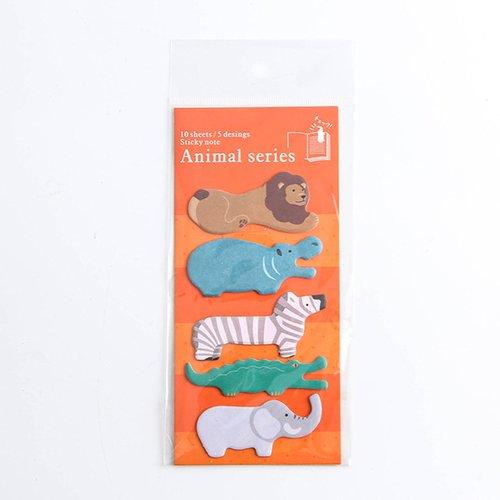 Sticky notes kawaii  lion hippopotame zèbre crocodile éléphant