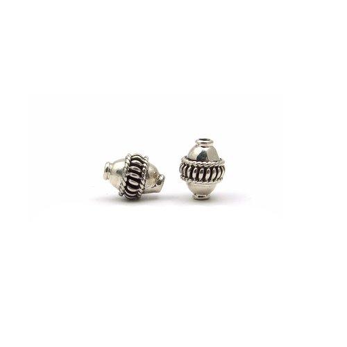 2 perles en argent 925 11x8mm