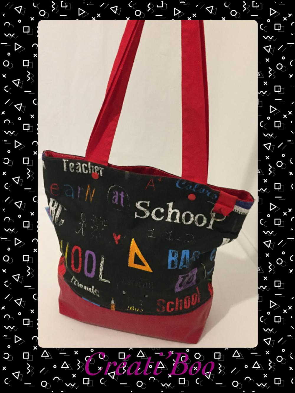 sac cabas, ado fille jeune , School