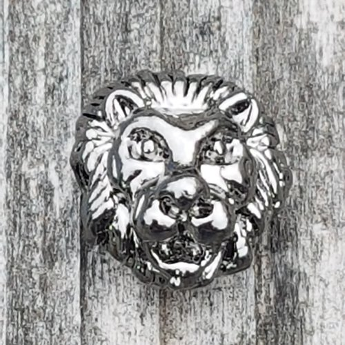 2 tetes de lion argent vieillit