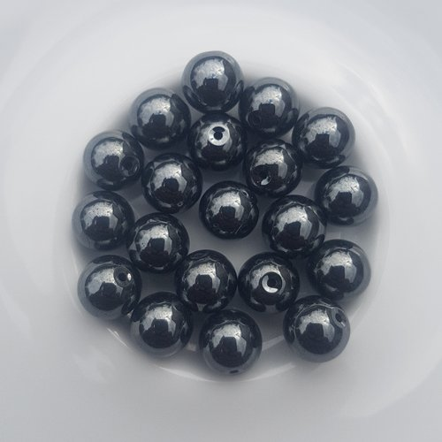 20 perles hematites non magnetiques grade aa 8 mm