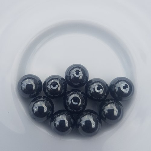 10 perles hematite non magnetique grade aa 8 mm