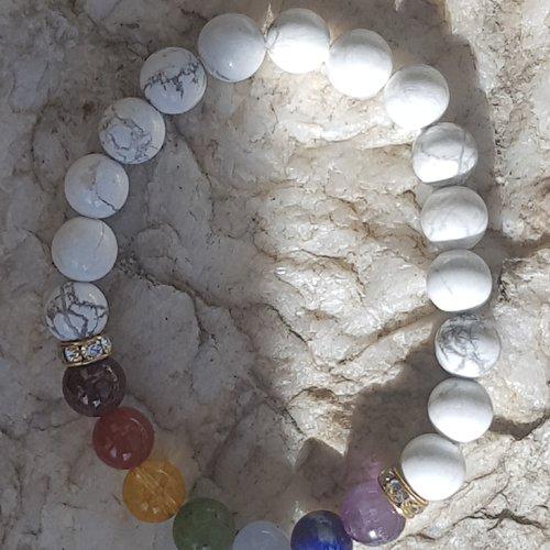 Bracelet harmonie 7 chakras / strass