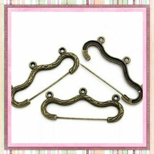 Support broche 3 anneaux bronze
