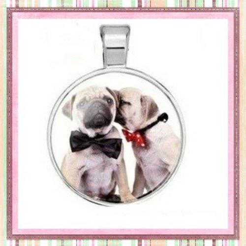 Grand pendentif duo de chien 25mm