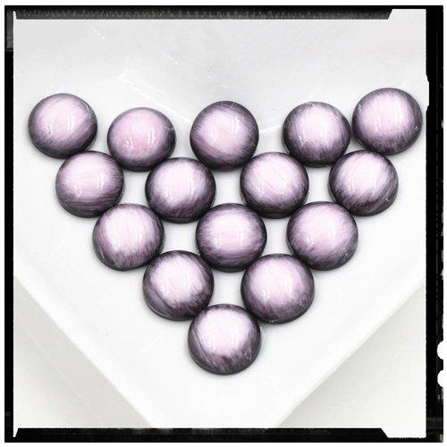 X2 cabochons dômes rose 12mm
