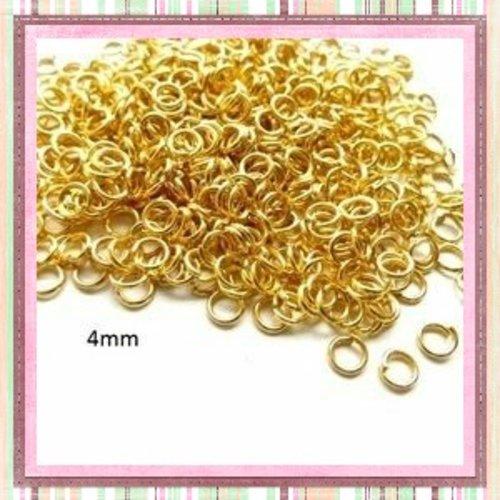 X50 anneaux de jonction dorés 4mm