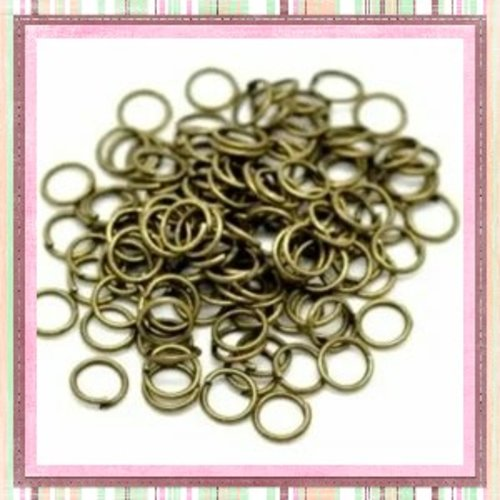 X50 anneaux de jonction bronze 6mm