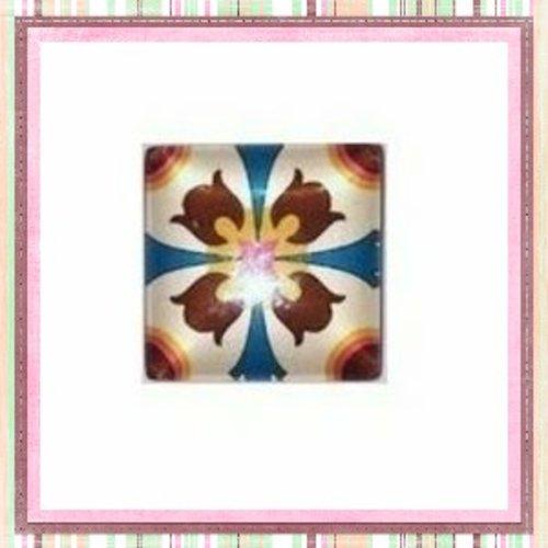Cabochon carré mosaïque 20mm