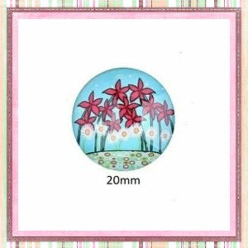 Cabochon fleuri  20mm