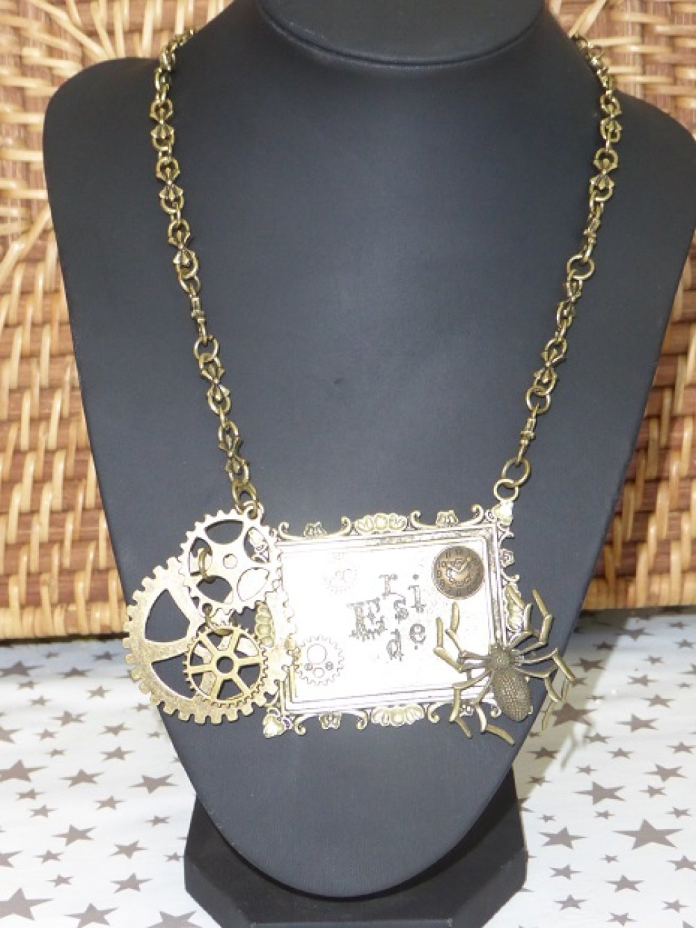 "Collier ""Steampunk"" bronze"