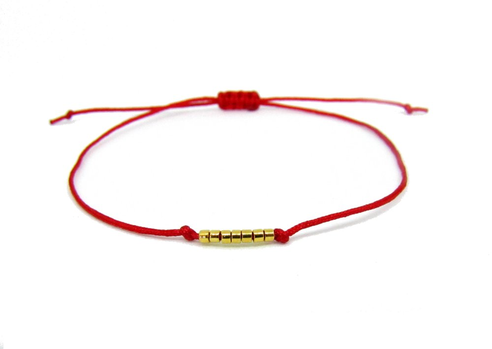 SHEMA Bracelet de pri/ère Juif Kabbale en acier inoxydable Dor/é