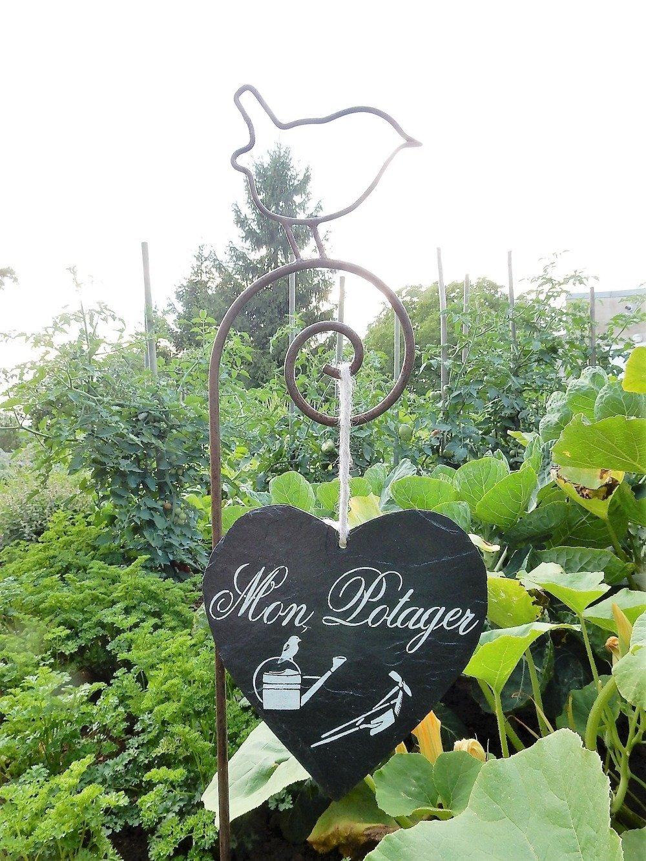 Ardoise décorative,étiquette de jardin, tuile, panneau pancarte,
