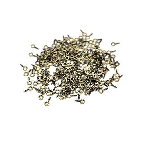 1000 Pitons à vis Long 8 mm Couleur argenté
