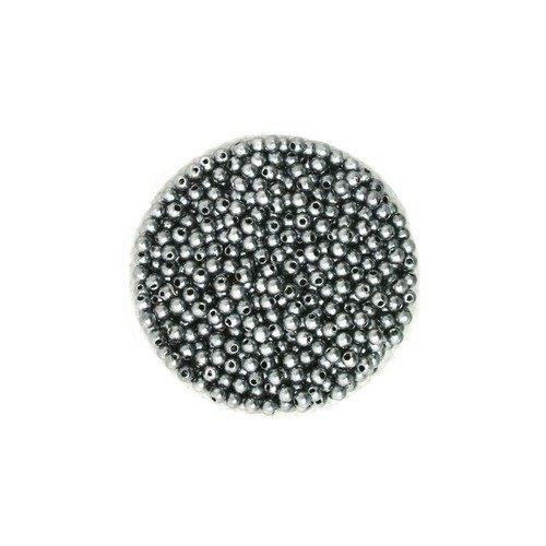 Lot de 100 Perles ronde nacré acrylique champagne 4 mm