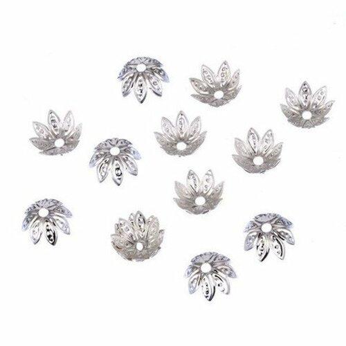 260 coupelles intercalaires cône Fleurs filigrane bronze