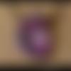 Pendentif en polymère bordeaux rose taupe à motifs
