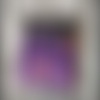 Pendentif en polymère orange violet parme noir