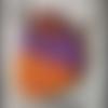 Pendentif en polymère orange marron parme