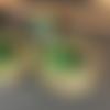 Boucles d'oreille effet pierre de jade brute