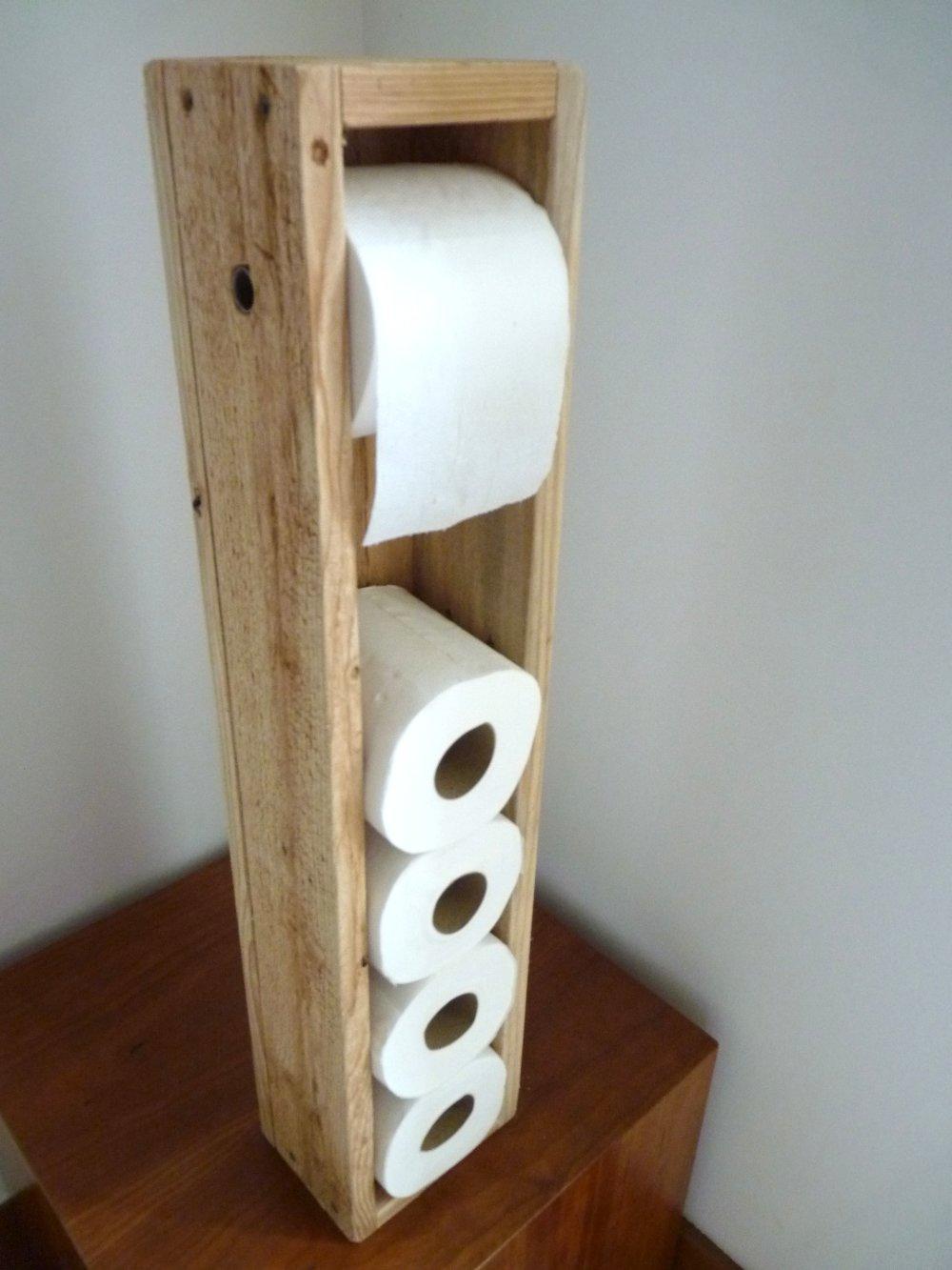 dérouleur papier toilettes bois palettes