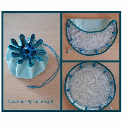 Sac de piscine pieds au sec - sac pour maillot de bain - créations by lili gali