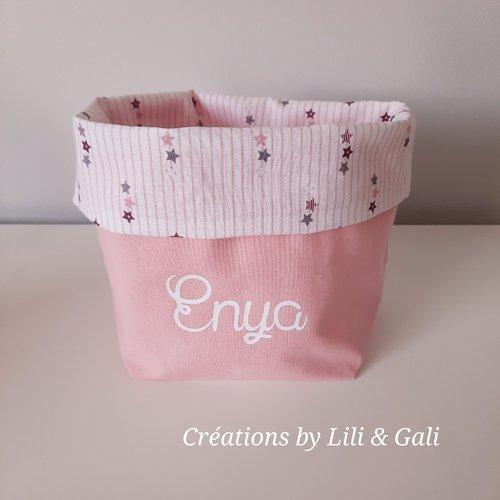 Panier / vide poche / corbeille en tissu réversible - cadeau original et personnalisé - créations by lili gali