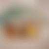 Broche à pois - jaune & blanc