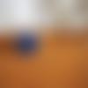 Bague ronde - bleu majorelle & argent