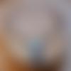 Ras de cou et pendentif en polymère - vieux rose & turquoise