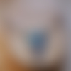 Ras de cou et pendentif en polymère - bleu & marron
